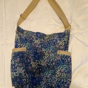 Blue Floral Mossimo tote bag